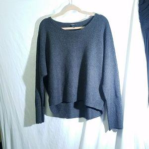 TAHARI Charcoal Gray Wool Blend Sweater, size XL